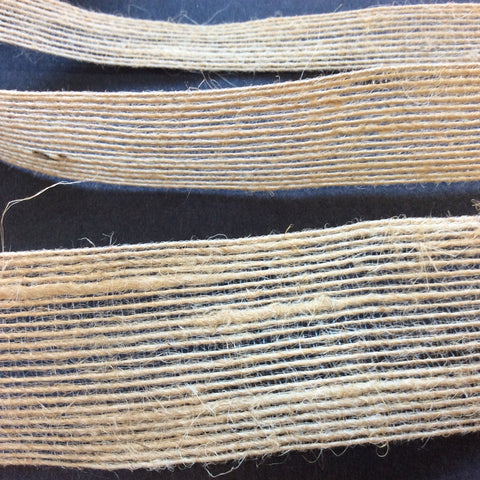 Natural Jute Hessian Burlap Ribbon Pk 5 metres