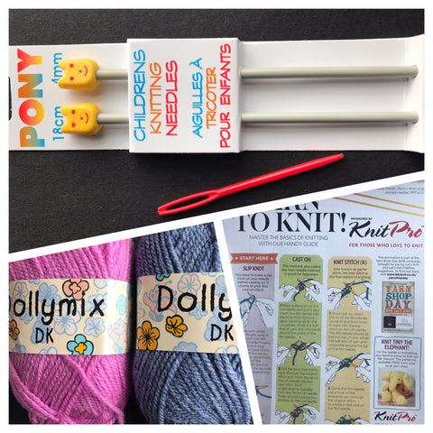 Childrens Learn To Knit Kit