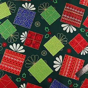 Cotton Christmas Gift Green Fabric