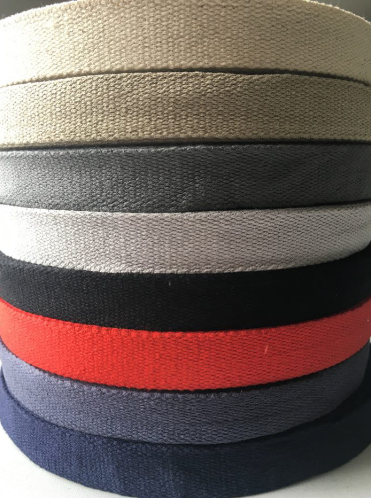 Cotton Bag Strapping 25 mm Various Colours