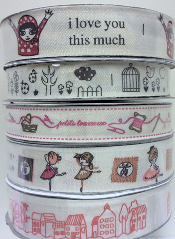 Printed Cotton Ribbon - 3 metres