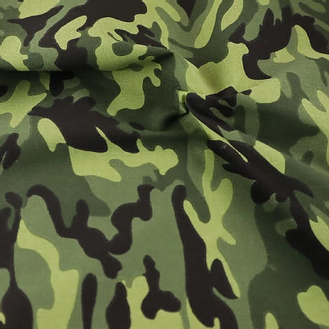 Poly Cotton Green Camouflage Fabric