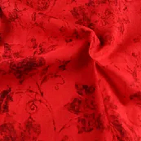 Cotton Holly Blenders Red Fabric