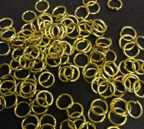 Jewellery Findings 6mm Jump Rings Gold Colour Pk 200