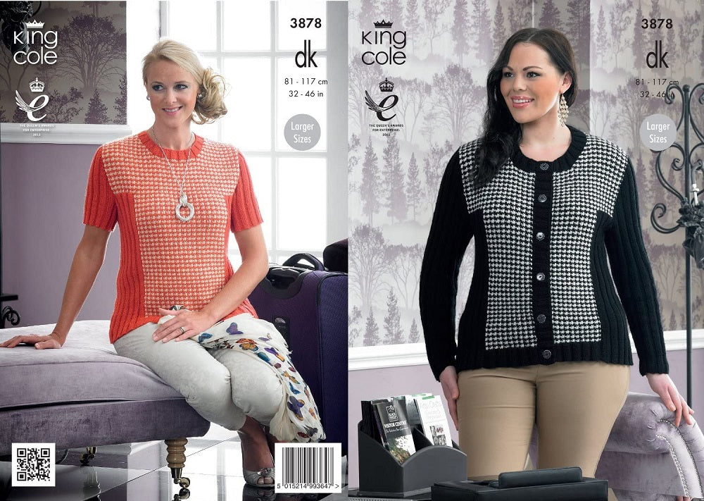 King Cole 3878 Ladies Jacket Cardigan DK Knitting Pattern