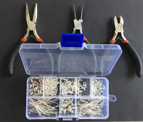 Jewellery Making Tools, Storage Box and Findings