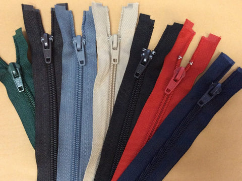 Open Ended Nylon Spiral Zip Various Colours Sizes