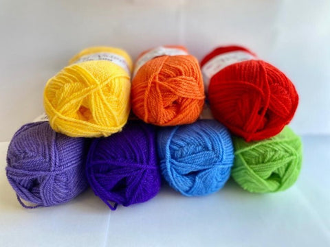 King Cole Big Value 50g Rainbow Shades Yarn