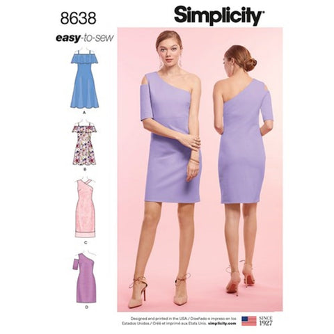 Simplicity 8638 Dress Sewing Pattern