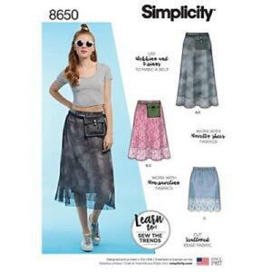 Simplicity 8650 Pull On Skirt Sewing Pattern