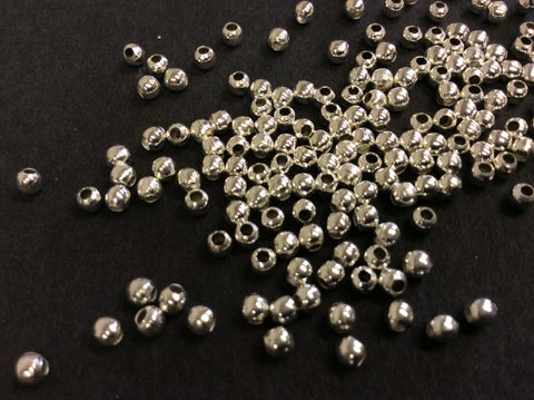Silver Plated Spacer Beads 3mm Pk 400