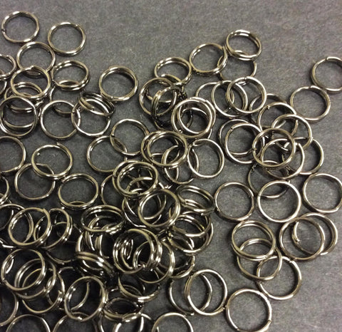 Black Split Rings 6mm Pk 200