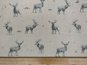 "60"" Cotton Linen Stag Fabric"