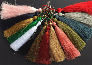 Luxury Silky Tassels 10 cm Assorted Colours
