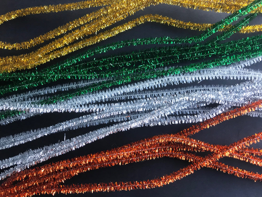 50 Tinsel Pipe Cleaners