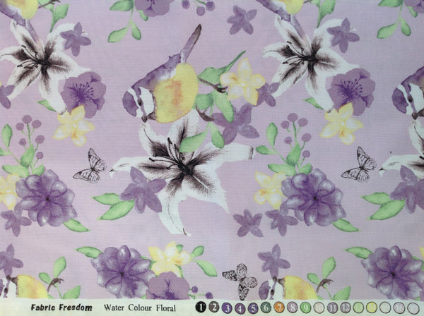 Fabric Freedom Water Colour Floral