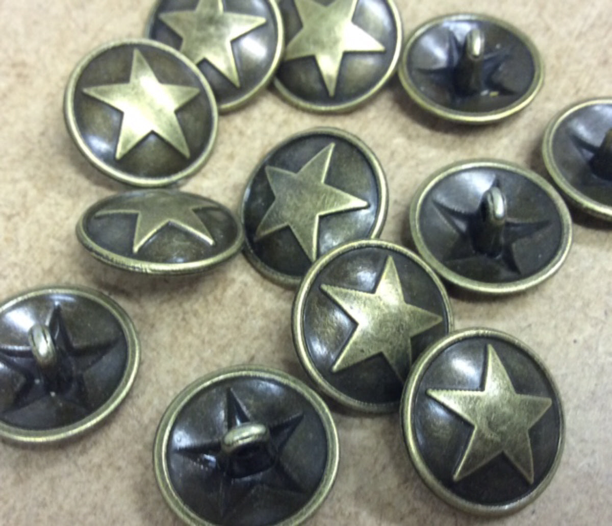 5 Antique Bronze Shank Buttons