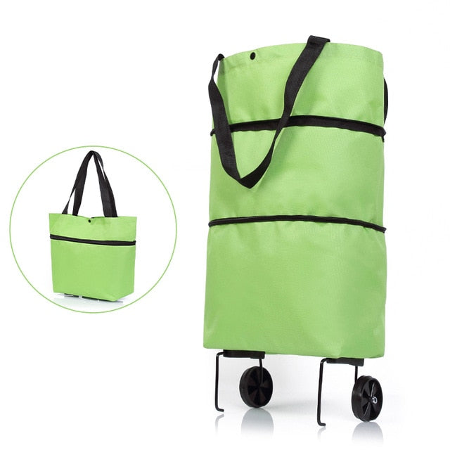 2-in-1 Foldable Shopping Cart