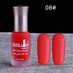 12ml Matte Nail Polish 43-Color Long Lasting UV Gel Nail Polish Varnish Quick Dry Holographic Nail Polish DIY Nails Lacque TSLM1