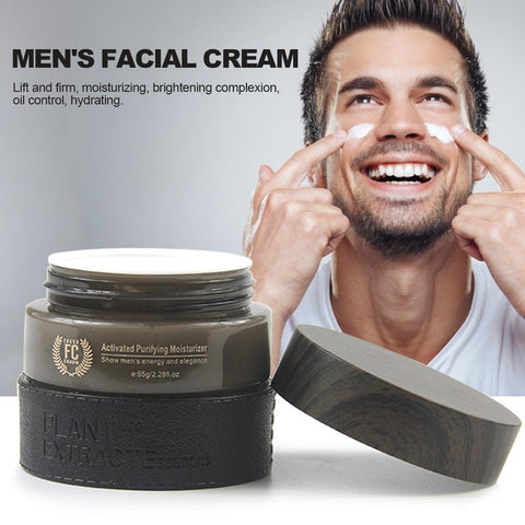 Men's Facial Cream Transparent Hyaluronic Acid Moisturizing Hydrating Oil Control Anti Aging Whitening Day Face Cream For Men