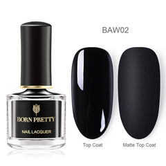 BORN PRETTY Nail Polish Black White Rose Glittering Sequins Peel Off Nail Art Varnish 6ml for DIY Manicuring Spring Summer Theme