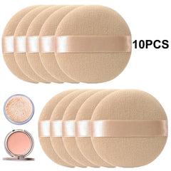10pcs Professional Round Shape Facial Face Body Powder Foundation Puff Portable Soft Cosmetic Puff Makeup Foundation Sponge Lot
