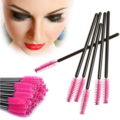 50Pcs/lot Disposable Eyelash Brushes Mascara Wands Applicator Wand Brushes Eyelash Comb Makeup Brushes Cosmetic Tool TSLM1