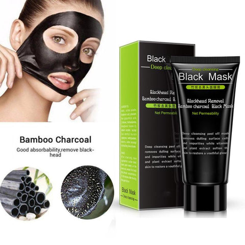 Blackhead Remover Tearing Mask Deep Cleaning Skin Care Peel Off Masks Oil Control Deep Purifying Charcoal Black Mud Mask TSLM2