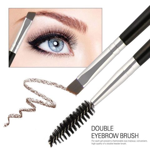 MAANGE Portable Eyelash Brush Eyebrow Comb Brushes 2 In 1 Double Heads Eyelash Brush Professional Beauty Makeup Tools