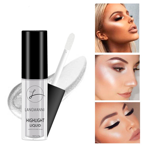 Glitter Liquid Highlighter Makeup Face Glow Makeup Contour Foundation Concealer Shimmer Highlight Beauty Shining Cosmetics