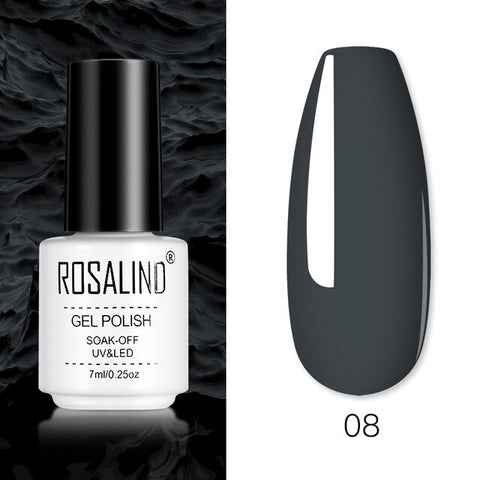ROSALIND Gel Nail Polish Hybrid Varnishes Semi Permanent UV Nail Polish All For Manicure Soak Off Pure Color Gel Polish Lacquer