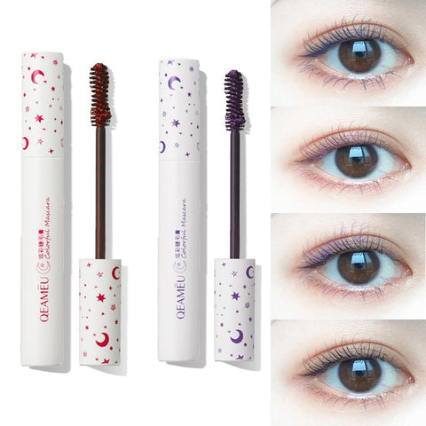 1PC 3D Waterproof Mascara Fiber Silk Eyelash Thick Curling Mascara Natural Lengthening Eyelash Black Purple Pink Mascara Make Up