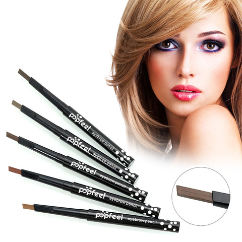 5 Colors Double Ended Automatic Rotary Eyebrow Pencil Lasting Waterproof Natural Eyebrow Pomade Brow Pencil with Brush TSLM2