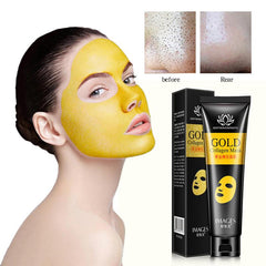 Gold Collagen Peel Off Mask  Face Tear off Moisturizing Whitening Anti Wrinkle Anti Aging Facial Mask Blackhead Remover TSLM2