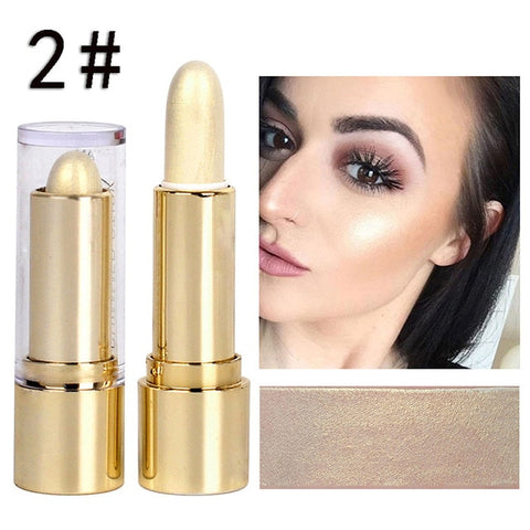 1Pc Soft Shimmer Shine Highlighter Foundation Stick Bronzer Contour Makeup Pen 3D Face Cream Highlight Pencil Face Make Up TXTBI
