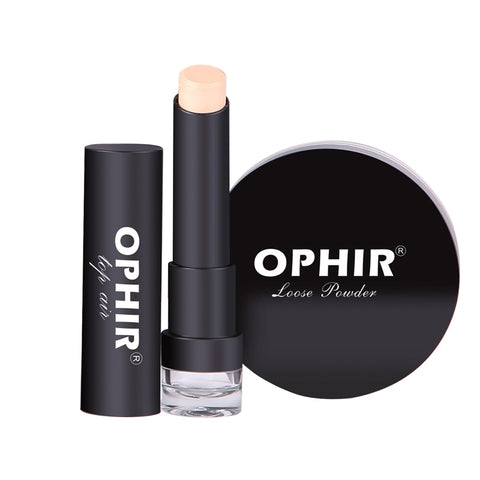OPHIR New Portable Makeup Foundation Concealer Loose Powder makes for smooth and Oil Control_TA117+118