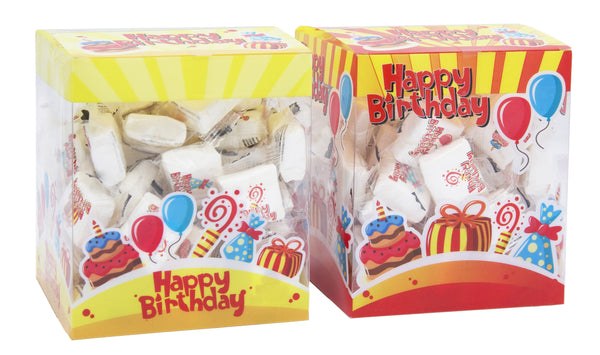 "Box ""Happy birthday"" da 60 marshmallow"