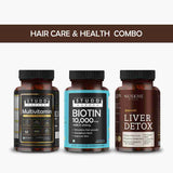 Hair Care and Health Combo - Biotin Amla 1000mcg, Multivitamin and liver Detox for Men and Women
