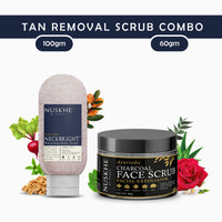 Nuskhe by Paras Neck and Face Tan Removal Scrub Combo -Neck Bright and Charcoal Scrub -Unisex