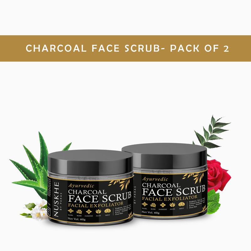 Nuskhe By Paras Charcoal Face Scrub- Pack of 2