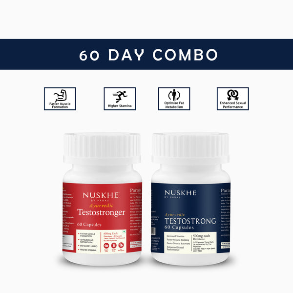 Nuskhe by Paras 60 Day Combo - Testostrong / Testostronger