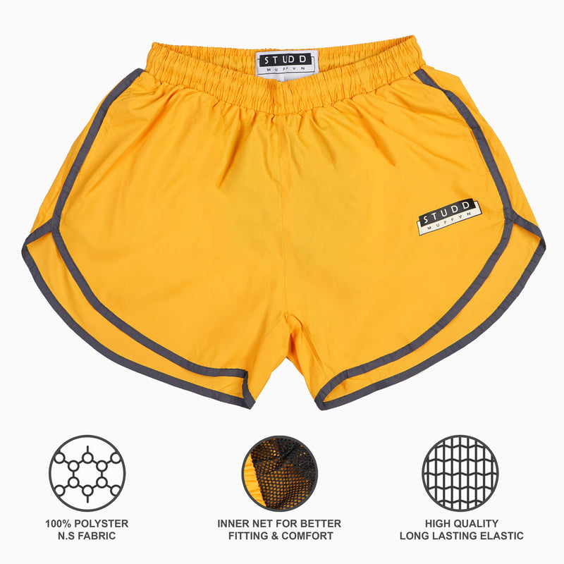 "Studd Muffyn ""Feels Like Naked"" Shorts- Sunny Yellow"