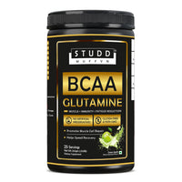 Studd Muffyn BCAA Glutamine (Green Apple ) for Muscle, immunity, Fatigue Reduction (250 gram)