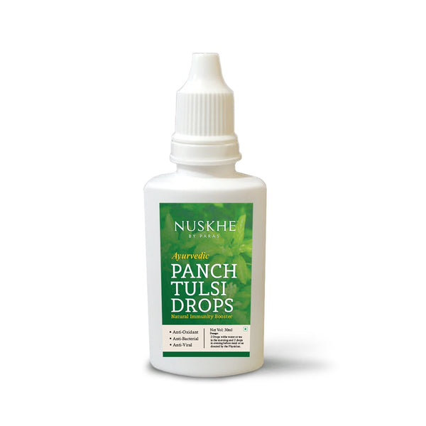 Nuskhe By Paras Ayurvedic Panch Tulsi Drops ,Natural Immunity Booster - 30ml