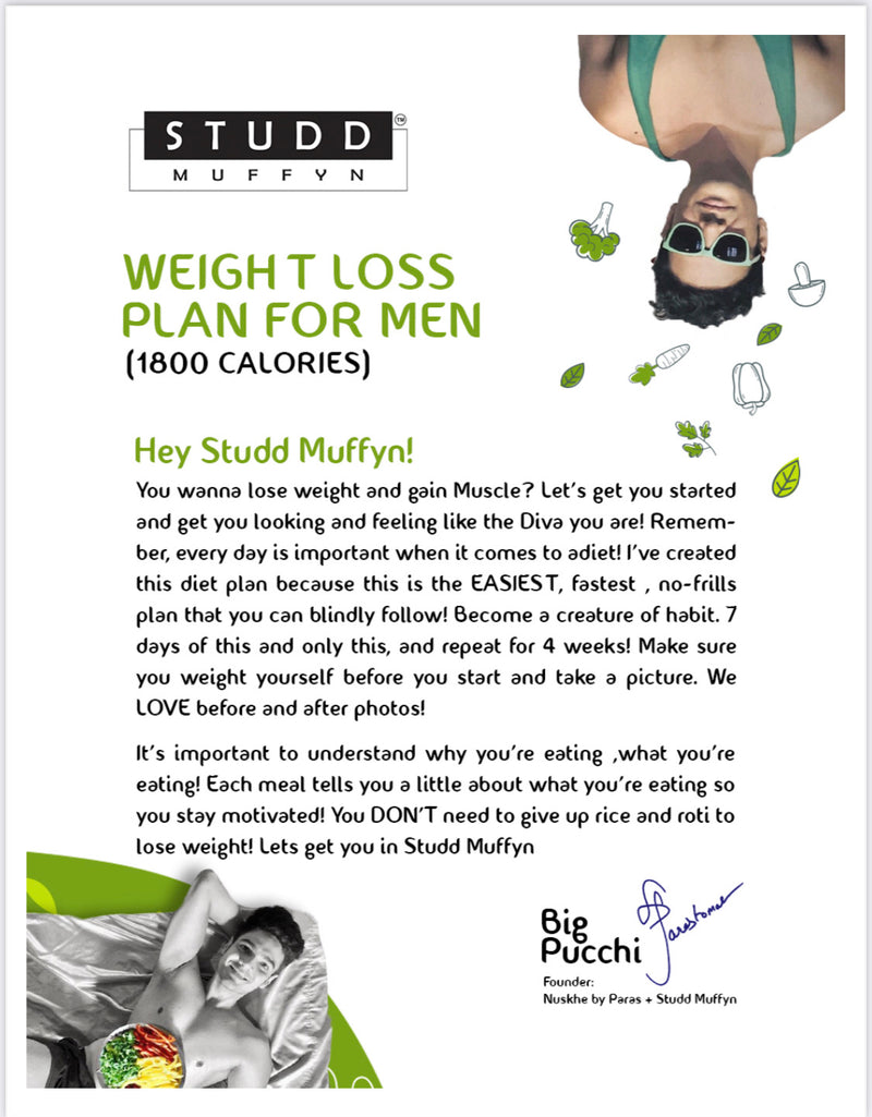 Studd Muffyn 4 week Weight Loss Diet Plan for Men & Women