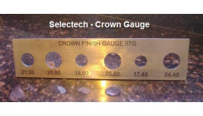 5 Hole Crown Crimp Gauge