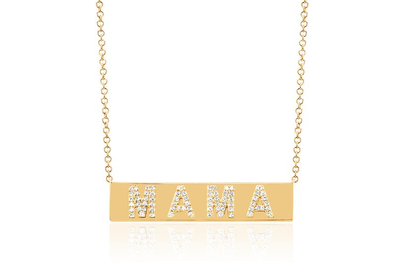 EF Collection Diamond Mama Nameplate Necklace