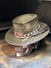 "Load image into Gallery viewer, Vintage rare  custom hat , ""Roll & Ride but never Die"""