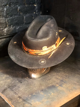"Load image into Gallery viewer, Vintage Rare Custom Cowboy Hat , ""FALLEN ANGEL"""
