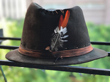 "Load image into Gallery viewer, Vintage Rare Custom  cowboy hat ""DRIVE ME CRAZY"""